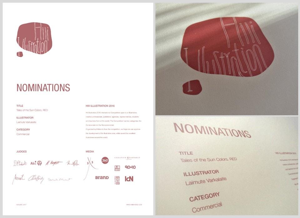 """Pirmoji """"Saulės poringių"""" kregždė – """"Raudona"""" (2013, 102p.), pelniusi net keletą apdovanojimų Lietuvoje, o 2017 išrinkta viena gražiausių knygų pasaulyje."""